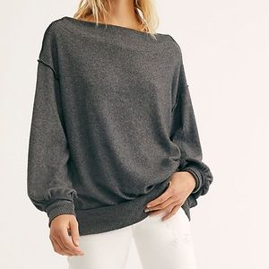 NWT We The Free Main Squeeze Hacci Top Grey Medium